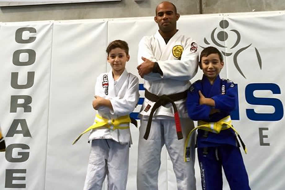 ivan voronoff and brazilian jiu jitsu students kids